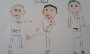 dessin karate
